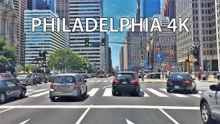 Driving Downtown - Philadelphia 4K - USA