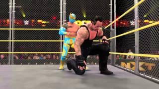 WWE 2K16 Undertaker vs Sin Cara Steel Cage Match PS4 [HD]