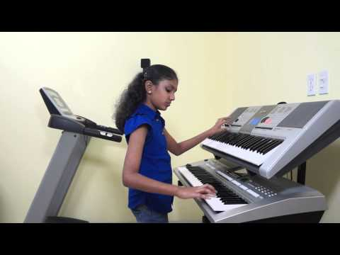 Poo Pookum Osai (minsara Kanavu)   Awaara Bhanwre (sapnay) On Keyboard By Veda Vinayakumar video