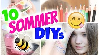 10 SOMMER DIY'S 🌸 Tattoos, Handyhülle UVM! | Julia Beautx