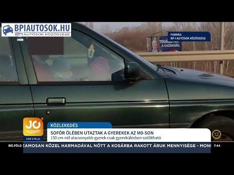 A sofőr ölében utaztak a gyerekek az M0-áson - Pető Attila - ECHO TV