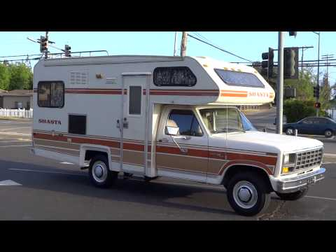 RV SHASTA Motorhome RV F-250 1 Piece Chinook Camper 1 Owner Class C 4.9L V6 Classic Vintage