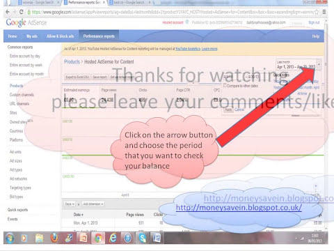 Check your youtube income via google adsense account-simple tips with pictures