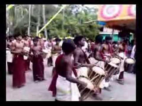 kerala church festival watching panjari melam with family