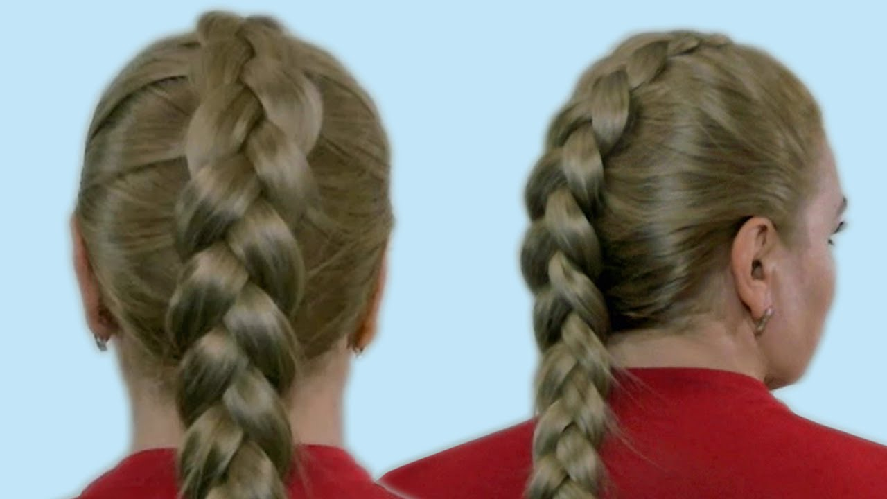 ... French Braid Tutorial Video Hairstyles for Medium Long Hair - YouTube