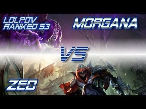 ► LoLPoV - Morgana vs Zed [Mid] Ranked Road to Diamond S3 (League of Legends Live Commentary)