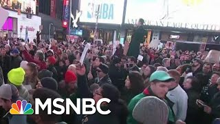 Sensing Donald Trump Threat, Widespread Protests Call To #ProtectMueller | Rachel Maddow | MSNBC