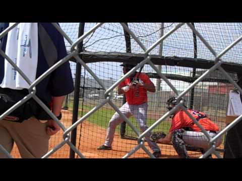 Astros Spring Training Minor League Live Batting Practice: Jonathan Singleton