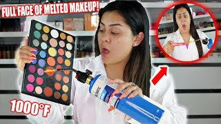 FULL FACE using ONLY MELTED MAKEUP Challenge! GONE WRONG *Not Clickbait*