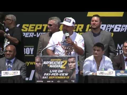 Mayweather vs Maidana 2  Press Tour  Los Angeles  SHOWTIME