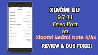 Xiaomi EU 9.7.11 Port Oreo for Redmi note 4/4x  Bangla Review & Bug Fix  New Rom 2019