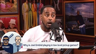 Amin Elhassan reveals conspiracy theory about those Joel Embiid pickup games | The Jump | ESPN