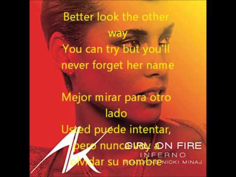 Girl On Fire (letra En Español ingles) video