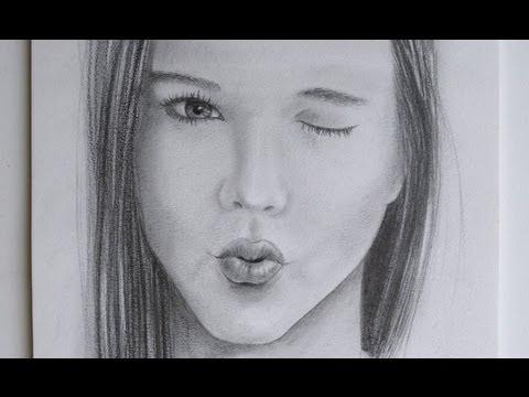 Cómo dibujar una boca mandando un beso - Retrato de Yuya Lady16MakeUp