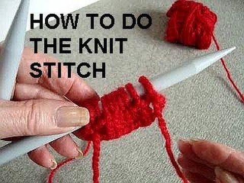 Knitting How To Remove Stitches : KNIT STITCH, LEARN HOW TO KNIT - YouTube