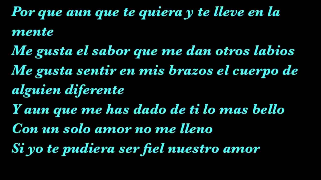 letra el amante: