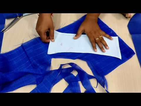 Lining Blouse cutting in Tamil part 2 :: Chhattisgarhi Video ...