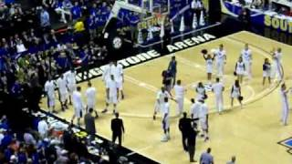 2010 SEC Championship Game Players Introduction University of Kentucky