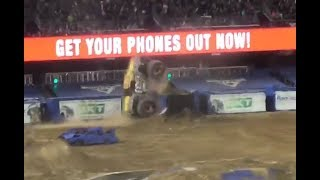 Monster Jam San Diego 2018 MAX-D (WINNING) Freestyle 02/03/18 (REVERSE BACKFLIP) (TOM MEENTS)