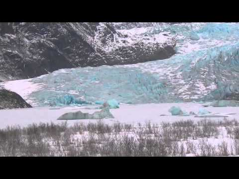 Juneau Alaska At Mendenhall Glacier In Winter