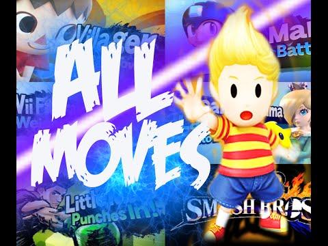 Lucas - Smash Bros Wii U: - All Moves. Taunts. & Final Smash