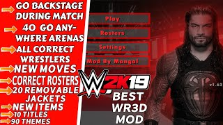 WR3D WWE 2K19 MOD   WR3D Attached Arena   New Moves   Go Anywhere Arenas   Correct Rosters WR3D 4.77 MB