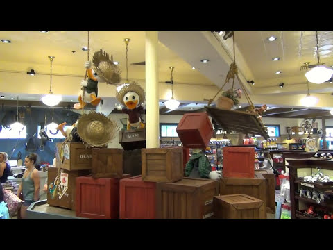 Animated Disney Character Displays at Disney's Port Orleans Riverside, Fulton's - Includes Donald