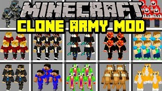 Minecraft CLONE ARMY MOD!   BUILD ARMY OF YOUTUBER CLONES!   Modded Mini-Game