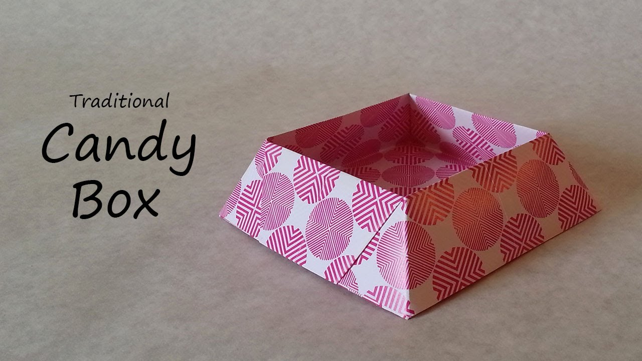 origami candy box tutorial youtube