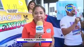 Llegada de Katheryn Banegas a Honduras
