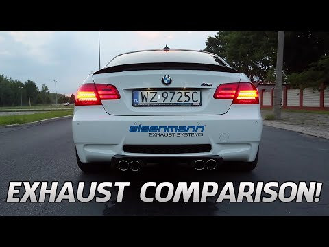 BMW M3 E92 Exhaust Comparison [Eisenmann, Akrapovic, Meisterschaft, etc]