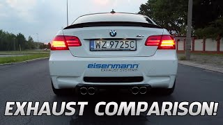 BMW M3 E92 Exhaust Comparison [Eisenmann, Akrapovic, Meisterschaft, etc]