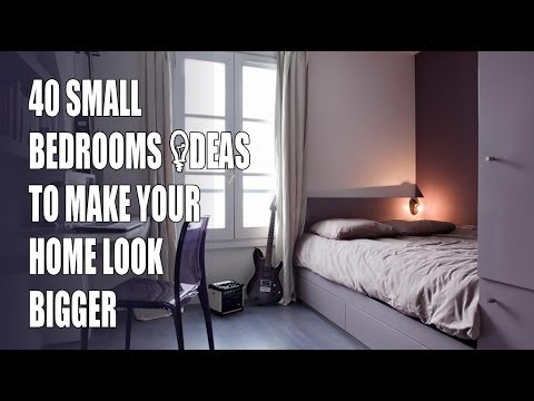 40 small bedroom design ideas to make your home look bigger youtube - Making use of small spaces decor ...