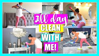 ALL DAY CLEAN WITH ME! | Extreme Clean With Me, Organizing | Cleaning Motivation
