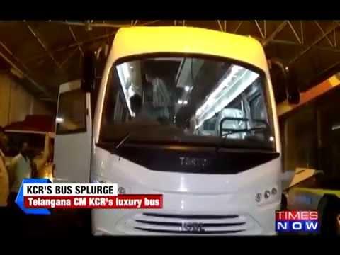 Glimpses of Telangana CM K Chandrasekhar Rao's 5 cr vanity bus
