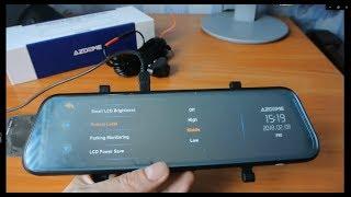 PG02 Fullscreen Mirror Dash Cam Review Front and Rear Dual Camera