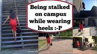 Crossdresser - stalked on campus while wearing high heels - part 2 | NatCrys