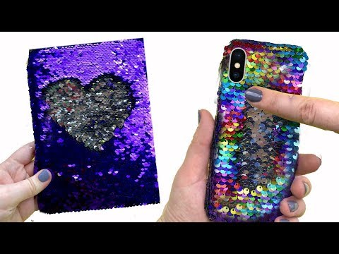 How to make Amazing VIRAL Color-Changing Iphone X Phone Case | Diy life hacks with hot glue gun