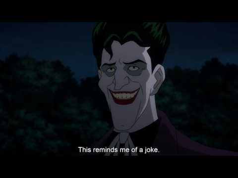 Joker tells Batman a joke and batman laughs