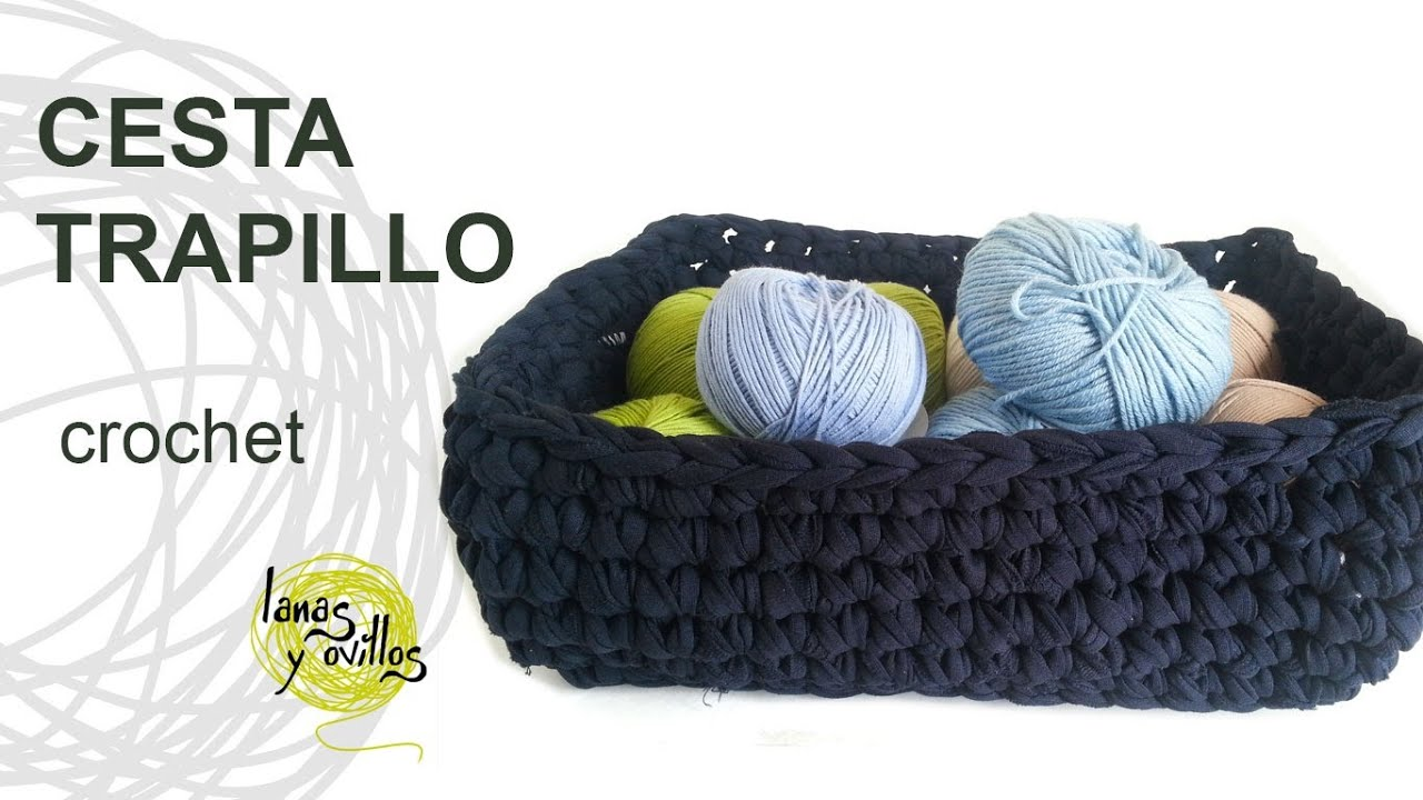 Tutorial Crochet Xxl : Tutorial Cesta Trapillo Crochet o Ganchillo XXL - YouTube