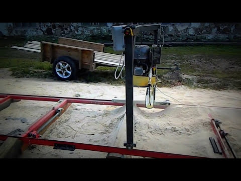 Homemade chain saw mill