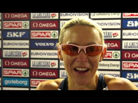Jenny Meadows after the heats of the 800m
