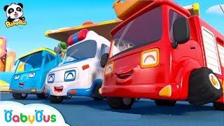 Baby Panda's Dream - Super Car Racer | Car Story for Kids | Fire Truck, Monster Truck | BabyBus