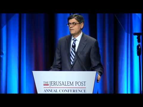 Jack Lew jeered at JPost Conference 2015