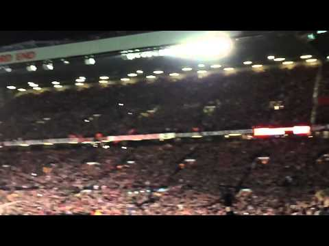 Robin Van Persie Free Kick Goal (iPhone 5S slo mo) - Man Utd vs Olympiakos 19/03/14