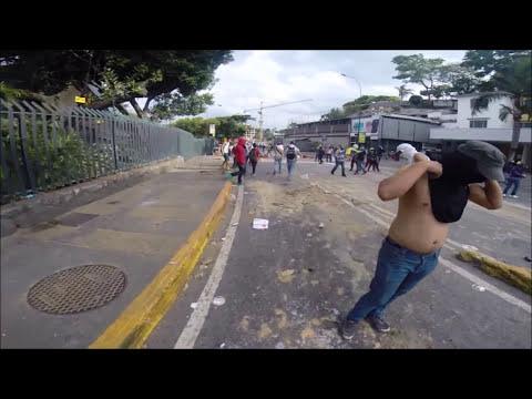 01 Abril El Rosal - Las mercedes - PNB y motorizados lanzapiedra, GNB cabrones #ResistenciaAnonima