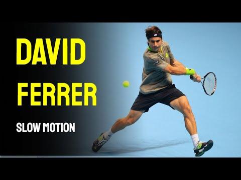 David Ferrer Slow Motion Compilation