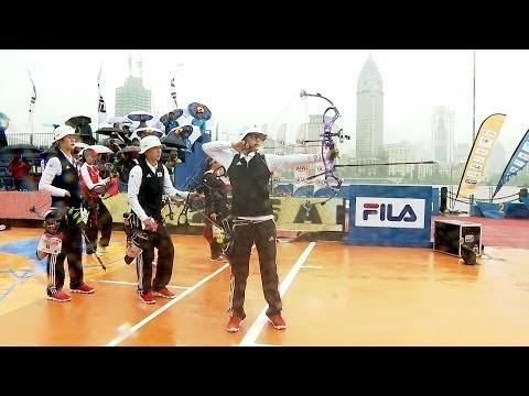 Shanghai 2014 Archery World Cup stage 1 -- FULL SESSION compound team finals