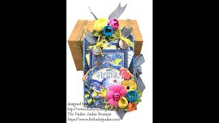 Graphic 45 Flutter Trifold Tag Tutorial for The Funkie Junkie Boutique