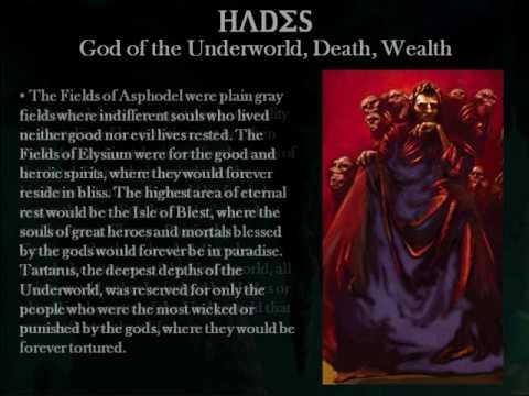 Hades the greek god of the underworld death wealth